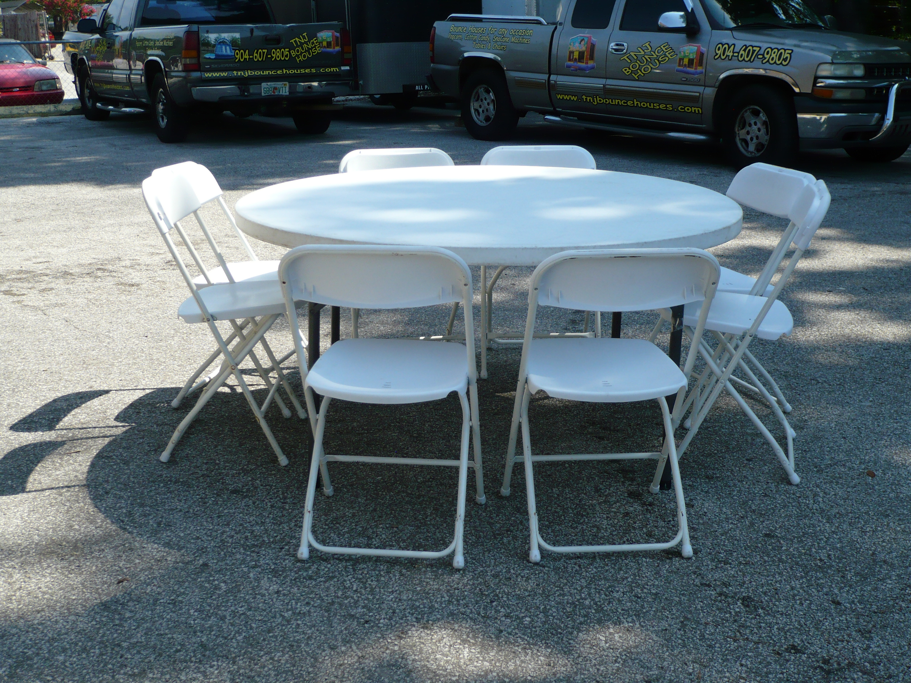 8 Foot Tables $10.00 A Piece 6 Foot Tables $8.00 A Piece 60u0027 Round Tables  $8.00 A Piece 72u0027 Round Tables $10.00 A Piece